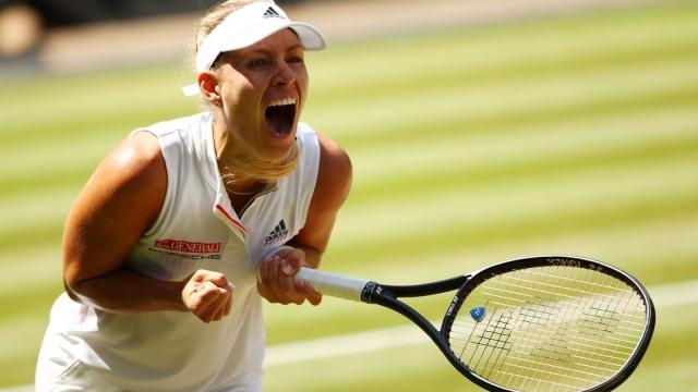 Angelique Kerber has reached her first Wimbledon final (Getty)