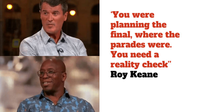 Roy Keane laid into Ian Wright on ITV World Cup coverage of England v Croatia.