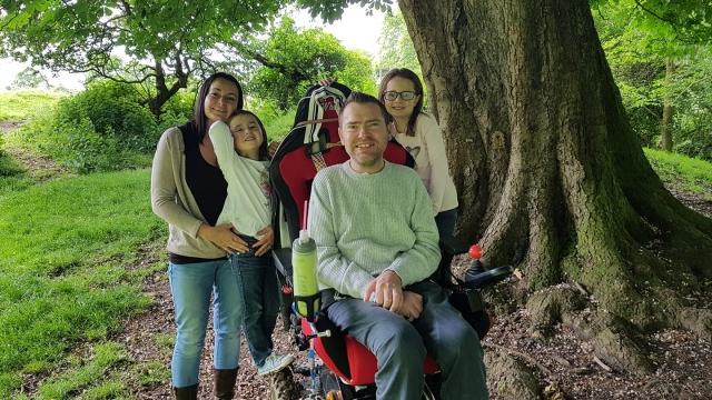 Jason Liversidge, who has motor neurone disease, had his family holiday ruined by blunders at the airport, says his wife (Photo: LizLiversidge)