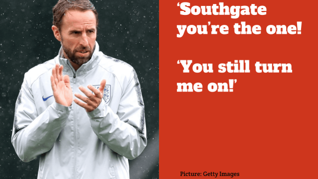England fans have made up a new song about manager Gareth Southgate