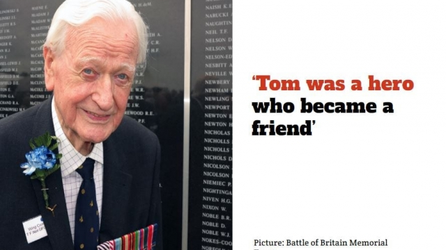 """Wing Commander Tom Neil was """"the epitome of a Battle of Britain pilot - very shy, always talking about other people's deeds, not his own"""""""