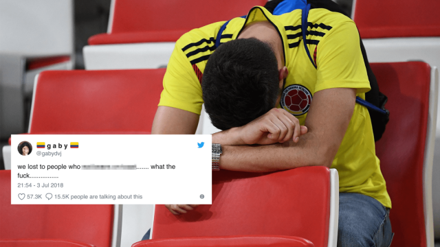 Colombia fans were left devastated by their penalty defeat