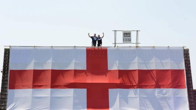 Massive England flag pub