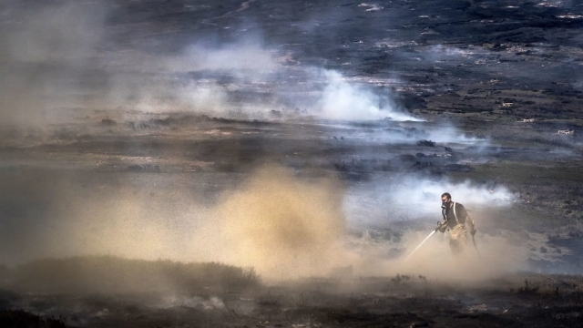 Firefighters are into their second week of tackling the wildfire on Saddleworth Moor (Photo: Danny Lawson/PA Wire)