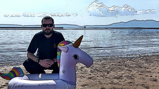 Swimmer stranded out to sea on inflatable unicorn
