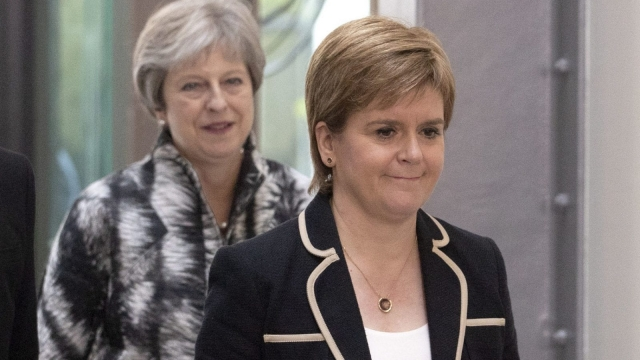 Theresa May and Nicola Sturgeon held a 30-minute meeting in Edinburgh (Photo: PA)
