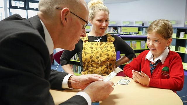 John Swinney has defended the P1 tests after controversy over their impact on children (Photo: Scottish Government)