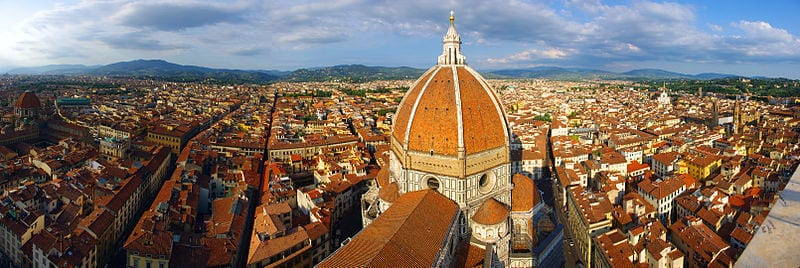 The rooftops of Florence (photo: Darren Po / Wikimedia Commons)
