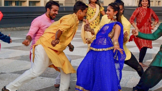 Anita Rani heads behind the scenes of a Bollywood movie and takes part in a choreographed dance routine (Image: BBC)