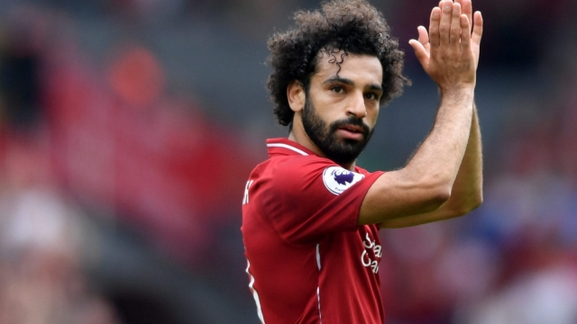 On the mark: Mo Salah scores Liverpool's opener in the 4-0 win over West Ham United at Anfield. (Getty Images)
