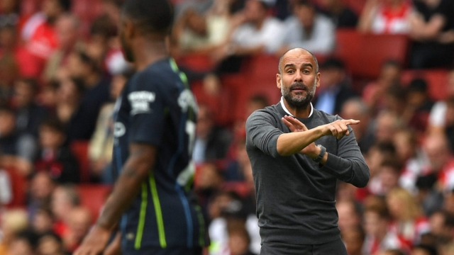 Pep Guardiola was full of praise for Manchester City forward Raheem Sterling (Getty Images)