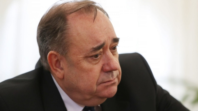 EDINBURGH, SCOTLAND - AUGUST 24: Alex Salmond holds a press conference regarding the sexual harassment allegations made against him, at The Champany Inn Linlithgow on August 24, 2018 in Edinburgh, Scotland. (Photo by Ian MacNicol/Getty Images)