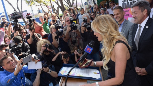 Stormy Daniels receives a City Proclamation and Key to The City of West Hollywood (Photo: Getty)
