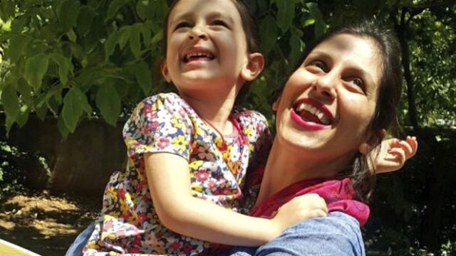 Nazanin Zaghari-Ratcliffe hugs her daughter Gabriella during her three-day release (Photo: Nazanin Campaign/AP)