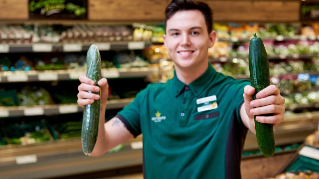 Morrisons is taking the plastic off most of its cucumbers during the British growing season (Photo: Morrisons)
