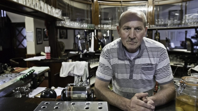 Dave Sweeney, the landlord of the Royal Oak in Oldham. (Photo: Jon Super)