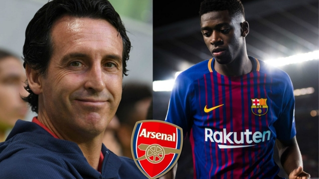 Ousmane Dembélé has been linked with a transfer from Barcelona to Arsenal, under the management of Unai Emery. (Getty Images/Arsenal FC, edited by i Paper Sport)