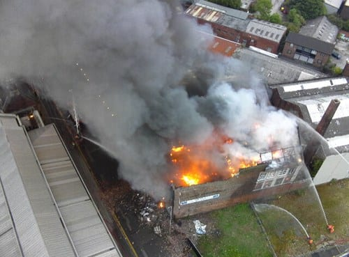 The fire is close to HMP Manchester. (Photo: GMFRS)