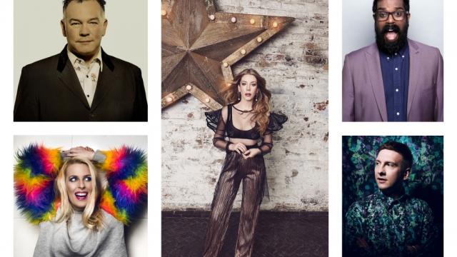 Pick of the Fringe: (clockwise from top) Stewart Lee, Katherine Ryan. Romesh Ranganathan, Joe Lycett and Sara Pascoe