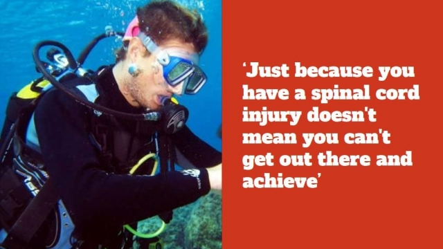 Meet the paraplegic diver helping others. (swns)