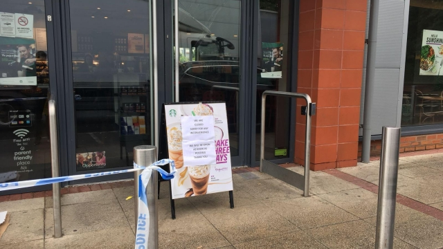 The Starbucks branch has been closed following the robbery
