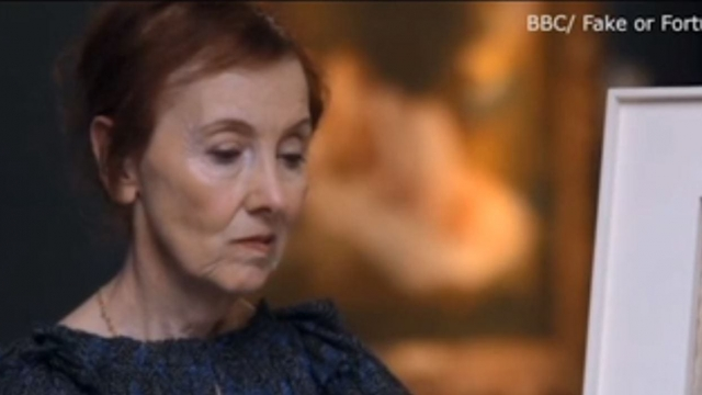 A woman spent £165k on a painting only for it to be deemed a fake by experts. (bbc screenshot)
