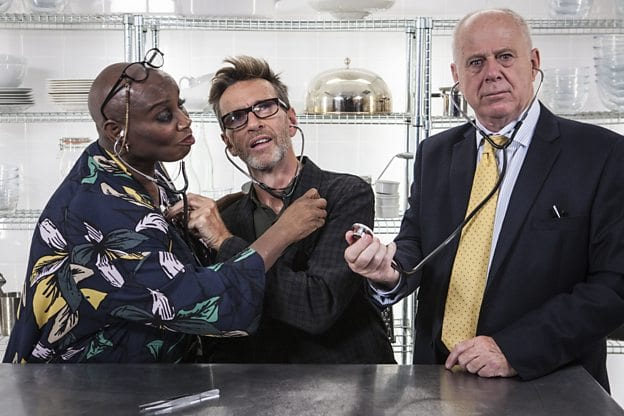 Andi Oliver, Oliver Peyton and Matthew Fort are back to judge The Great British Menu (Photo: BBC)
