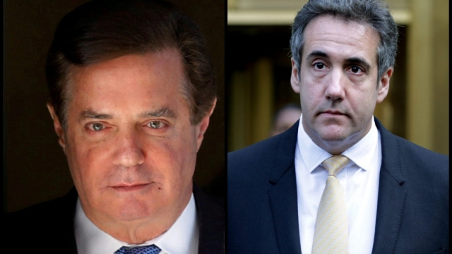 Paul Manafort and Michael Cohen (Reuters and Getty)