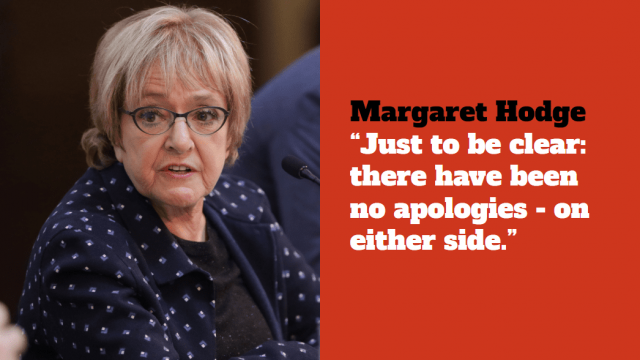 Dame Margaret Hodge said she was pleased that the investigation had been dropped (PA)