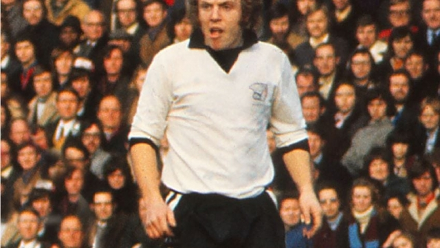 Ricky George playing for Hereford United in the FA Cup in 1972
