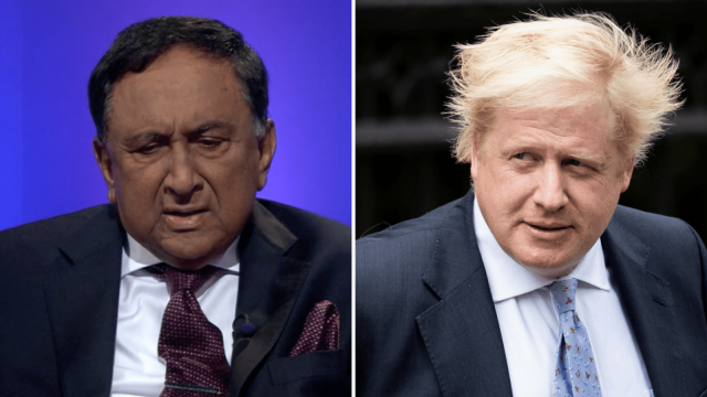 Lord Sheikh says he faces 'politically-motivated' attacks for criticising Boris Johnson (Photo: Getty)