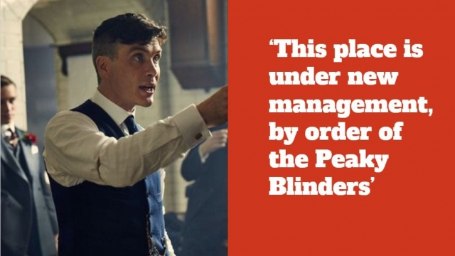 What is happening in Peaky Blinders series five? (@ThePeakyBlinders screenshot)