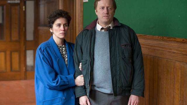 Vicky McClure and David Wilmot play grieving parents in Mother's Day. Photo: BBC/ Steffan Hill