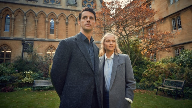 Matthew Goode and Teresa Palmer in Sky 1's adaptation of A Discovery of Witches (photo: Sky 1)
