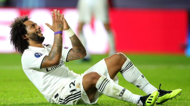 Marcelo could be set to miss two Real Madrid games due to a calf problem.