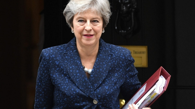 British Prime Minister Theresa May has faced discontent over her Chequers plan and could face a leadership coup next April (Getty Images)