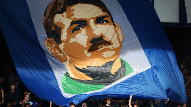 Neville Southall, immortalised in a banner (Getty Images)