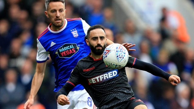 Erhun Oztumer in action for Bolton Wanderers against Ipswich (Getty Images)