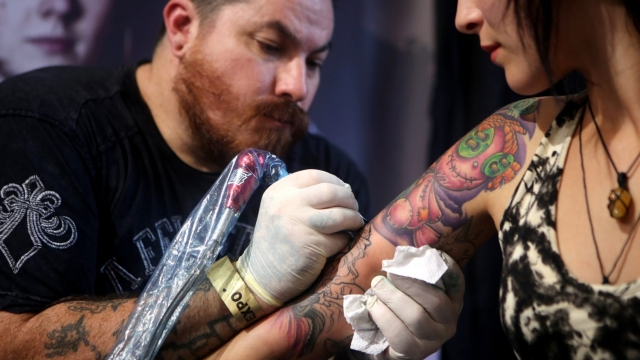 Could this woman's tattoo end up being the subject of a copyright battle?(Photo: JENNIFER BRUCE/AFP/Getty Images)
