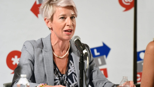 Katie Hopkins at 'Sex, Presidents & Handmaids Hosted by Lady Freak' panel at Pasadena Convention Center on 29 July 2017 (Getty Images for Politicon)