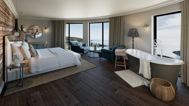 The bedrooms at Gara Rock have sea views