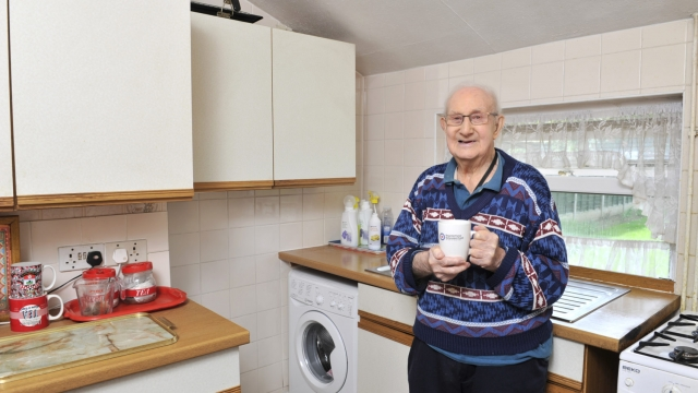 Stanley Hall described his new washing machine as 'out of this world' (Photo: RAFBF)