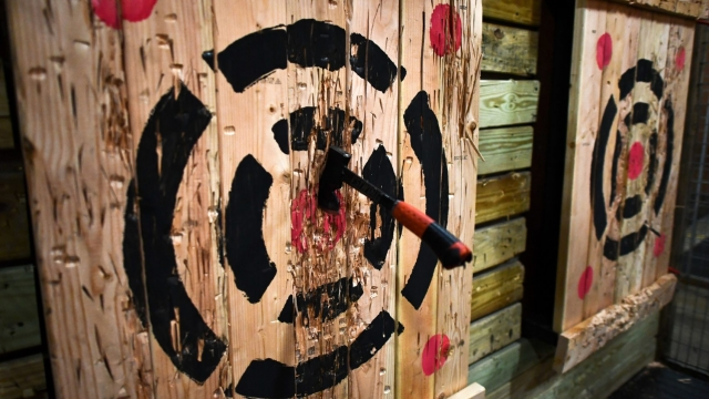 Hub Stadium bar has been rapped by officials for failing to tell the authorities it planned to host axe-throwing contests (Photo: Jewel Samad/AFP/Getty Images)