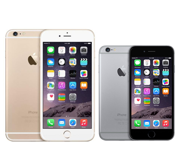 Owners of the iPhone 6 (pictured R) were encouraged to upgrade to an operating system designed for a faster, newer model (Photo: Apple/i)