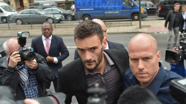 Tottenham Hotspur goalkeeper Hugo Lloris arriving at Westminster Magistrates' Court. (Photo: Nick Ansell/PA)