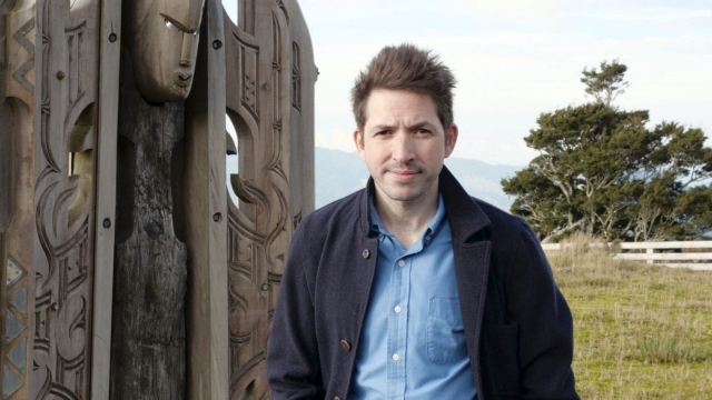 Dr James Fox encounters ancient Maori carvings during his exploration of Oceanic art in New Zealand (Photo: BBC Pictures)