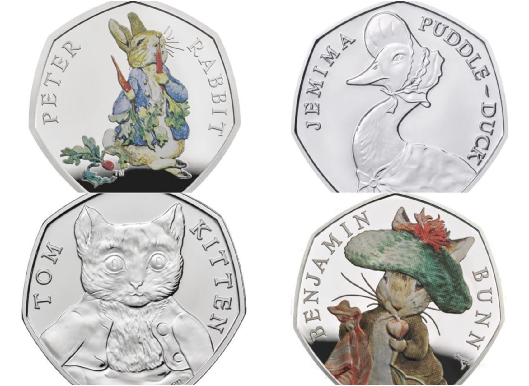 Beatrix Potter 50p Coins How Much Is Each Coin Worth From Peter Rabbit To Tom Kitten