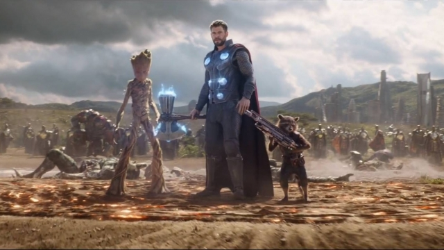 Article thumbnail: Groot, Thor and Rocket (Marvel)