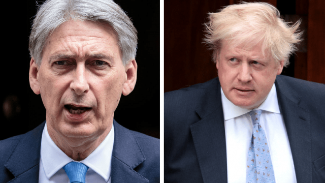 Philip Hammond has openly mocked Boris Johnson in a series of stinging media interviews