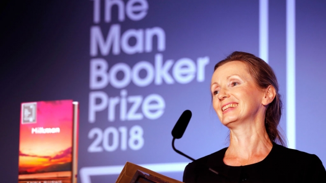 Anna Burns said she would use her Booker Prize money to pay off her debts. Photo: Frank Augstein /Getty